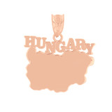 Rose Gold Hungary Country Pendant Necklace