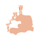 Rose Gold Haiti Country Pendant Necklace
