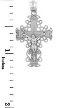 White Gold Crucifix Pendant - The Rejoice Crucifix