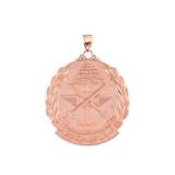 """Rose Gold Lebanese Army Emblem Pendant Necklace ( 1.32"""" )"""