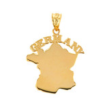 Solid Yellow Gold Germany Pendant Necklace