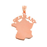 Solid Rose Gold Germany Pendant Necklace