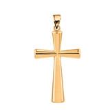Solid Yellow Gold Cross Pendant
