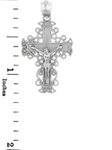Sterling Silver Crucifix Pendant - The Rejoice Crucifix