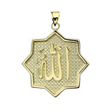 Yellow Gold Allah in Star Pendant