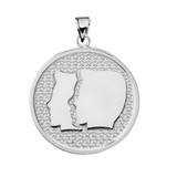 Sterling Silver Gemini Zodiac Disc Pendant Necklace