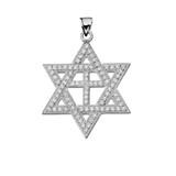 White Gold Judaeo-Christian Pendant Necklace