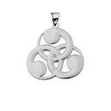 Sterling Silver Hom of Odin Symbol Pendant Necklace