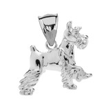 Sterling Silver Schnauzer Pendant Necklace