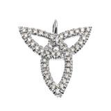 White Gold Trinity Pendant Necklace