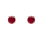 10K Rose Gold July Birthstone Ruby (LCR)Earrings