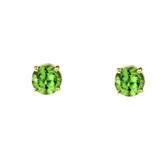 10K Yellow Gold  August Birthstone Peridot (LCP)Earrings