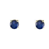 10K Yellow Gold  September Birthstone Sapphire (LCS) Earrings