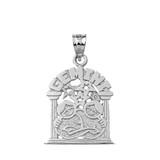 Sterling Silver Zodiac Gemini Pendant Necklace