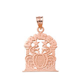 Solid Rose Gold Zodiac Cancer Pendant Necklace