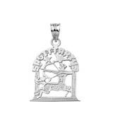 Sterling Silver Zodiac Sagittarius Pendant Necklace