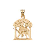 Zodiac Taurus Pendant Necklace in Solid Gold (Yellow/Rose/White)
