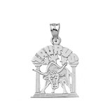Sterling Silver Zodiac Taurus Pendant Necklace