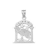 Sterling Silver Zodiac Aries Pendant Necklace