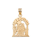 Zodiac Virgo Pendant Necklace in Solid Gold (Yellow/Rose/White)