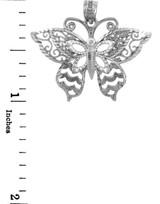 Sterling Silver Motyl Butterfly Charm Pendant