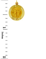 Gold Religious Pendants - The Saint Martha Pray For Us Yellow Gold Pendant