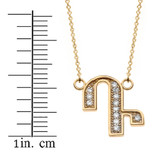 """14K Solid Yellow Gold Armenian Alphabet Diamond Initial """"D"""" or """"T""""  Necklace"""