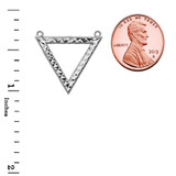 Chic Open Triangle Necklace in 14K White Gold