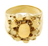 Men's Endure Solid Gold Nugget Ring