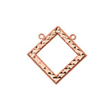 Chic Diamond Shape Necklace in 14K Rose Gold