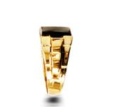 Gold Onyx Mens Square Ring