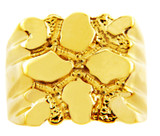 Men's Summit Solid Gold Nugget Ring