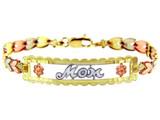 Tri-Color Gold Bracelet - The MOM Diamond Cut Bracelet