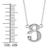 "14K Solid White Gold Armenian Alphabet Diamond Initial ""Tsu"" Necklace"