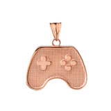 Game Control Pendant Necklace in Rose Gold