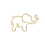 14K Yellow Gold Elephant Necklace