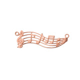 Horizontal Musical Notes Necklace in 14K Rose Gold
