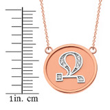 """14K Solid Two Tone Rose Gold Armenian Alphabet Diamond Disc Initial """"Jh""""  Necklace"""