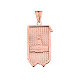 Pennsylvania State of Independence Pendant Necklace in Rose Gold