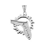 Florida Sunshine State Pendant Necklace in Sterling Silver