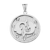 Designer Diamond Pisces Constellation Pendant Necklace in White Gold