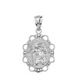 Sterling Silver Saint Christopher Pendant Necklace