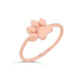 Rose Gold Dog Paw Rope Ring