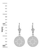 Sterling Silver Native American Geometric Sun Symbol Dainty Disc Earring Set