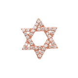 Diamond Jewish Star of David with Hidden Bail Pendant Necklace in Rose Gold