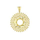 Handmade Designer Bohemian Statement Pendant Necklace in Yellow Gold