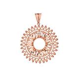 Handmade Designer Bohemian Statement Pendant Necklace in Rose Gold