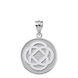 Sterling Silver Celtic Knot Flower Disc Pendant Necklace