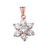 Elegant Dainty Cubic Zirconia Pendant Necklace in Rose Gold