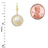 Elegant Designer Pearl Earrings in Yellow Gold